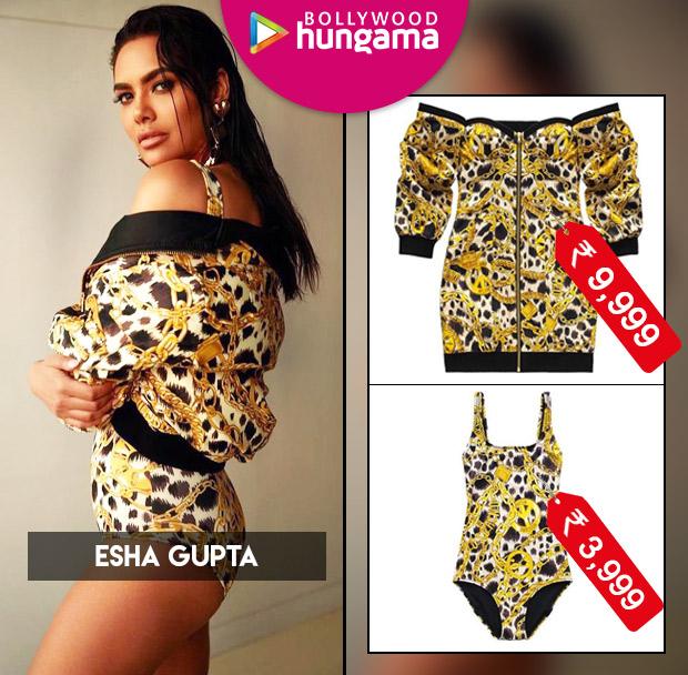 Esha Gupta in H&M x Moschino swimsuit and dress (1)