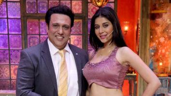Govinda and Mishika Chourasia snapped promoting their film Rangeela Raja