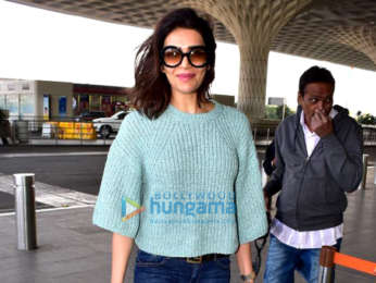 Jackie Shroff and Karishma Tanna snapped at the airport