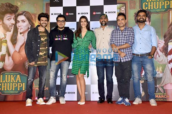 Kartik Aaryan, Kriti Sanon, Pankaj Tripathi and others grace the trailer launch of 'Luka Chuppi'2 (4)