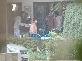 Kriti Sanon and Kartik Aaryan spotted at Maddock Films' office