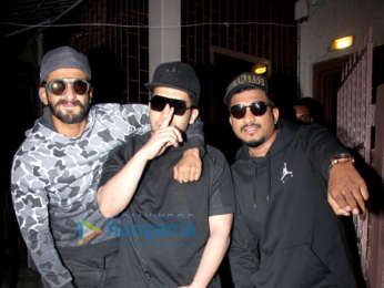 Ranveer Singh snapped at a recording studio working on his film Gully Boy