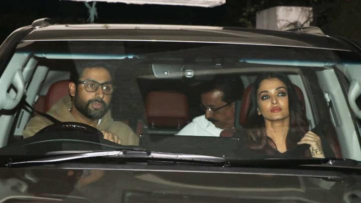 SPOTTED Abhishek Bachchan, Aishwarya Rai Bachchan and others at Sonali Bendre's House in Juhu