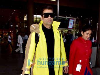 Shabana Azmi and Karan Johar snapped at the airport