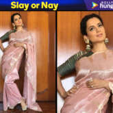 Slay or Nay - Kangana Ranaut in Ekaya Banaras for Manikarnika trailer launch in Hyderabad (Featured)