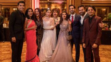 THROWBACK! Alia Bhatt, Pooja Bhatt and Emraan Hashmi strike a goofy pose at cousin Sakshi Bhatt's wedding reception