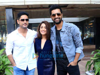 Vicky Kaushal, Mohit Raina and Yami Gautam snapped during media interactions for their film URI: The Surgical Strike