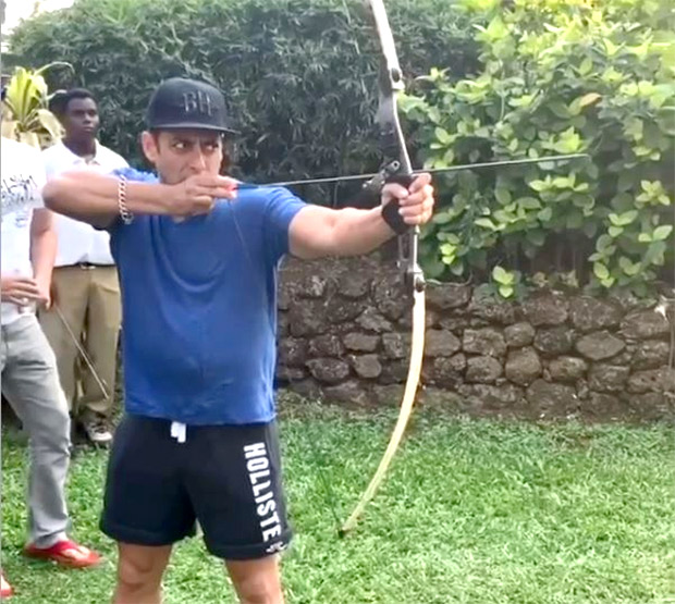 WATCH: Salman Khan shows off his archery skills; hits bullseye in this game
