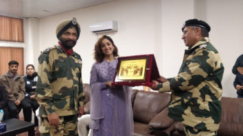 Yami Gautam felicitated by BSF Jawans after the success of Uri: The Surgical Strike
