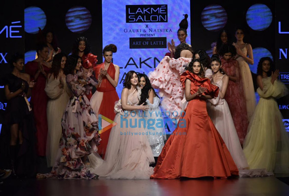 Yami Gautam walks the ramp for Gauri and Nainika at Lakme Fashion Week Summer Resort 2019 (6)