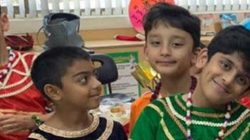 Ajay Devgn and Sanjay Dutt's sons Yug and Shahraan play Ram and Raavan in school play Ramayana