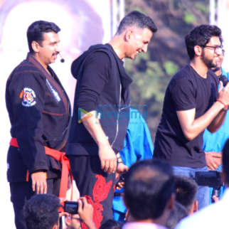 Akshay Kumar snapped attending a self defence event for school children in Thane