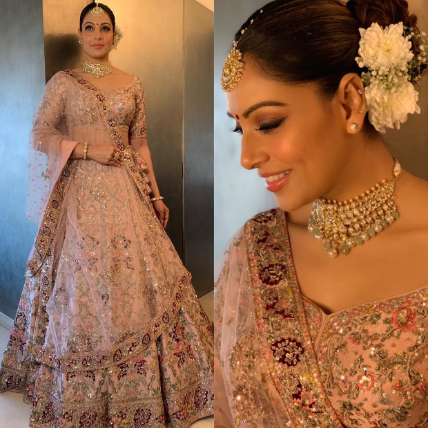 Bipasha Basu in Dolly J Studio for her sister Vijayeta Basu's wedding (1)