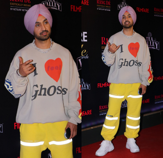 Diljit Dosanjh in casual avatar for Filmfare Glamour and Style Awards 2019