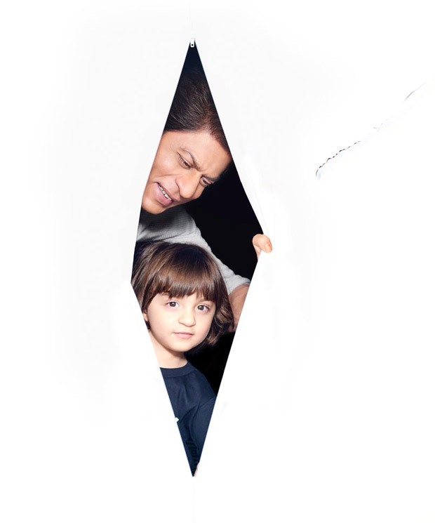 AWW! Shah Rukh Khan does the CUTEST photoshoot with his son AbRam and it has 'adorable' written all over
