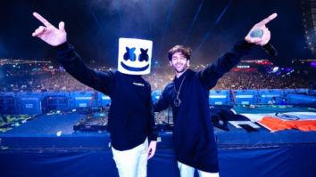 PHOTOS! Kartik Aaryan grooves to 'Coca Cola' with DJ Marshmello at a concert