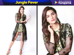 Jungle Fever - Kriti Sanon in Zara for Luka Chuppi promotions (Featured)