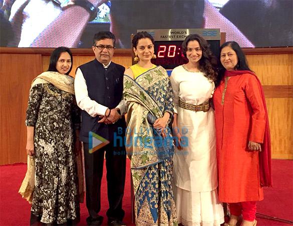 Kangana Ranaut and Ankita Lokhande snapped at Bombay Stock Exchange in Fort