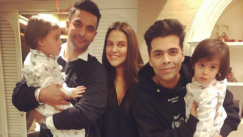 Karan Johar's twins Yash and Roohi turn two, Neha Dhupia shares a sweet of photo of her daughter Mehr meeting them