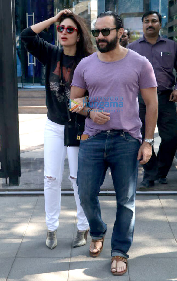 Kareena Kapoor Khan and Saif Ali Khan snapped post lunch at Yauatcha, BKC (1)