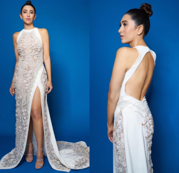 Karisma Kapoor in Tony Ward Couture for Filmfare Glamour and Style Awards 2019