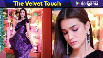 Kriti Sanon in MXS World velvet dress for Luka Chuppi promotions (Featured)