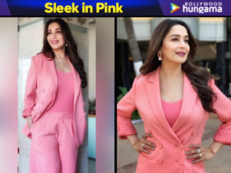 Madhur Dixit Nene in Appapop pink pantsuit for Total Dhamaal promotions (2)