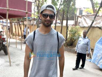 Malaika Arora and Shahid Kapoor spotted at the gym in Bandra