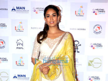 Mira Rajput snapped at The Helping Hands exhibition and fundraiser at St. Regis, Lower Parel