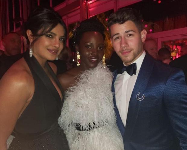 Oscars 2019 After Party: Priyanka Chopra and Nick Jonas strike a pose with Black Panther star Lupita Nyong'o, Taraji P Henson, Kate Bosworth