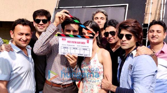 On The Sets Of The Movie Pati Patni Aur Woh