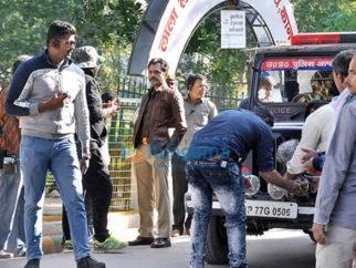 on the sets of the movie Raat Akeli Hai