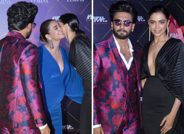 Ranveer Singh and Deepika Padukone share a WARM moment with the mommy-to-be Surveen Chawla at Femina Awards!
