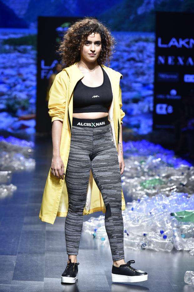 Sanya Malhotra for Narendra Kumar x Alcis Sports at LFW 2019 Summer_Resort (1)