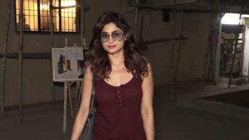 Shamita Shetty Spotted at Kromkay Salon, Juhu