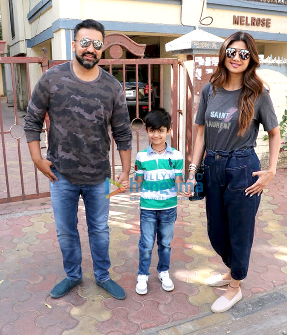 Shilpa Shetty snapped with family at Farmers' Cafe
