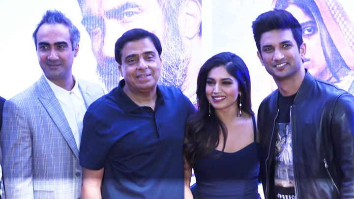Son Chiraiya Movie Press Conference with Sushant Singh Rajput, Bhumi Pednekar, Ashutosh and others