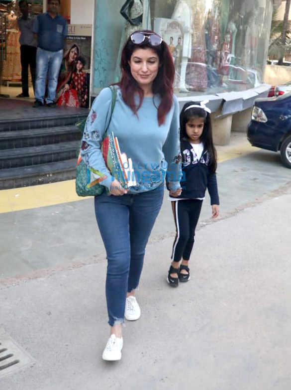 Twinkle Khanna snapped with Nitara spotted at a book store in Juhu