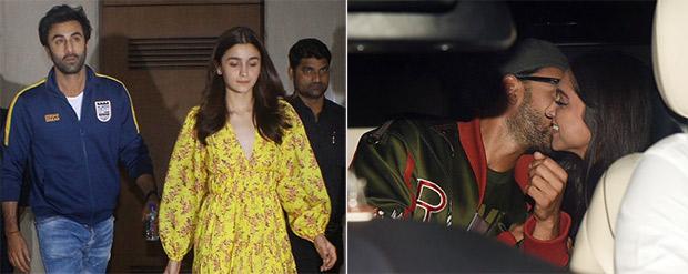 Deepika Padukone – Ranveer Singh get cozy, Ranbir Kapoor-Alia Bhatt have a major SHOWDOWN before Gully Boy screening