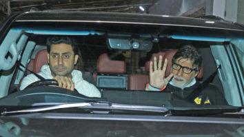 Amitabh Bachchan, Abhishek Bachchan & others at Special Screening of Badla