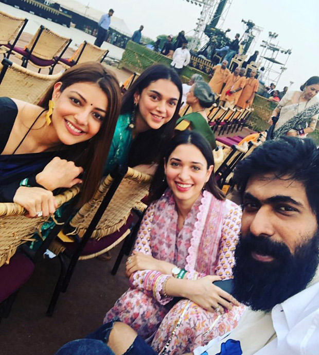Bahubali actors Rana Daggubati and Tamannaah Bhatia celebrate Mahashivratri with Kajal Aggarwal and Aditi Rao Hydari