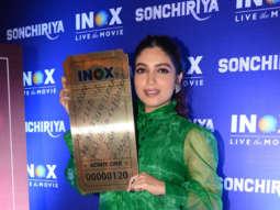 Bhumi Pednekar spotted at Cinemaghar to promote her film Sonchiriya