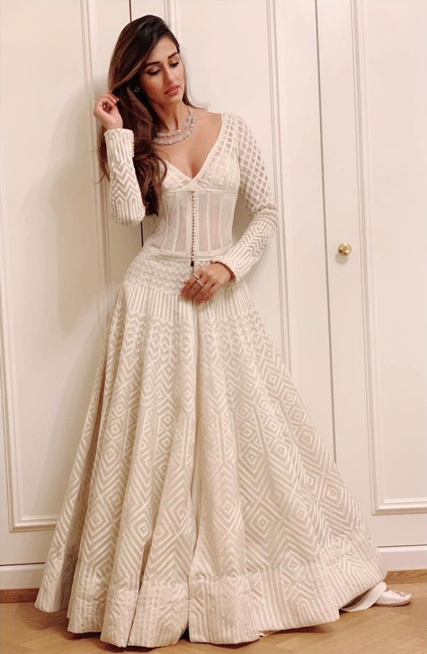 Disha Patani in Rohit Bal Couture for Akash Ambani - Shloka Mehta pre-wedding festivties at St. Moritz (2)