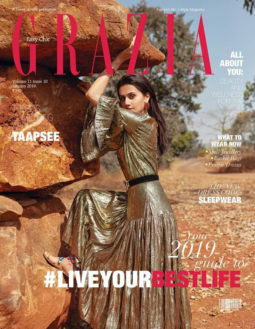 Taapsee Pannu on the cover of Grazia, Jan 2019
