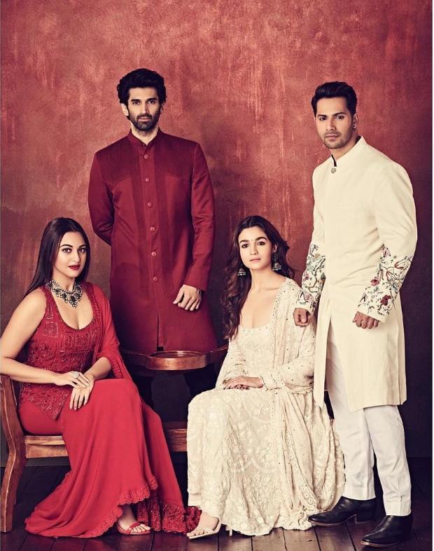 KALANK: These photos of Varun Dhawan, Alia Bhatt, Madhuri Dixit, Sanjay Dutt, Sonakshi Sinha and Aditya Roy Kapur makes a perfect family portrait
