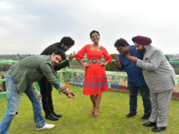 on the sets of the movie Milan Talkies