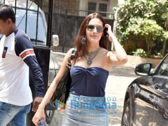 Rajkummar Rao and Amyra Dastur spotted during an ad shoot in Bandra
