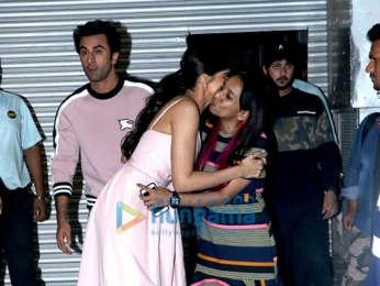 Ranbir Kapoor and Deepika Padukone snapped a post show at NSCI, Worli