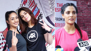 Saiyami Kher and Pooja Gor at Launch of Adidas Ultra Boost 2019