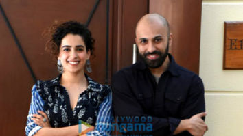 Sanya Malhotra and Ritesh Batra snapped during Photograph press meet